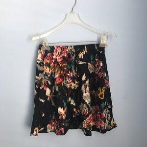 flowy floral skater skirt